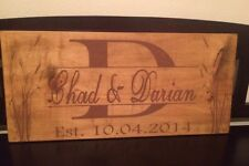Personalized Stained & Painted Wood Wall Sign 1ft X 2ft. Makes A Great Gift!