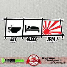 Eat Sleep JDM sticker decal vinyl funny drift stickerbomb nissan sx nismo evo rs