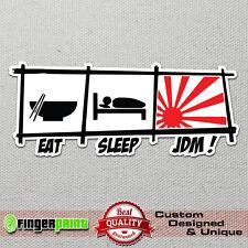 Eat Sleep JDM sticker decal vinyl funny drift stickerbomb nissan sx nismo evo rs