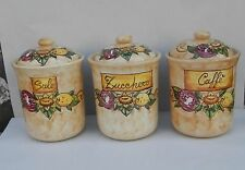 Tris latas de cerámica Artesanal estilo Vietri 100% hecho a mano AUSTRIA