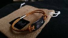Men's leather ID bracelet engraved with text OR hand/foot prints - PERSONALISED