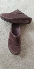 FitFlop ladies / mens' brown suede mules / slippers size 7