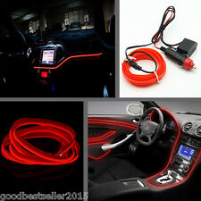 Car Red LED Cold light lamp Neon Lamp Strip EL-Wire Atmosphere Fluorescent Strip