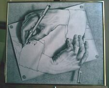 "REPRODUCTION ARTWORK M.C. Escher ""Drawing Hands"" Framed Print & 29 MasterPrints"
