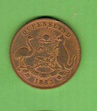 #D75. Australasian Trade Penny Token - 1863, D.T. Mulligan, Rockhampton, Qld