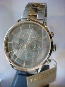 New TRUSSARDI T World Chronograph Men's Watch Rose Gold Steel R2473616002