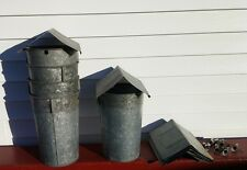 6 MAPLE SYRUP Old GALVANIZED Sap Buckets + 6 Lids COVERS + 6 TAPS Spiles Spouts