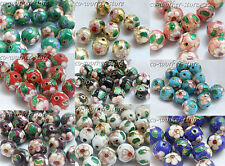 100 50 10pcs 8 10 12mm round enamel cloisonne spacer loose beads USA BY EUB