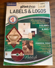 Print Shop Elements: Labels and Logos (PC) New and Sealed  Free Shipping