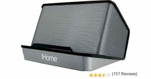 iHome Portable Rechargeable Stereo Speaker System Black Gray