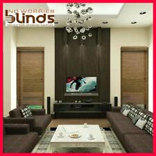 NEW! 90 x 210 Bamboo Roman Blind Blinds Teak & Black Room Darkening Ready Made