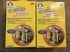 Gerber Graduates Quick-Find Pouch Organizer SET of 2 Holds 16 Pouches Ea NEW NIB