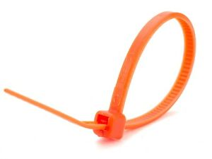 200x Orange SMALL CABLE ZIP TIES 140 x 3.6mm Strong Nylon Tidy High Quality UK