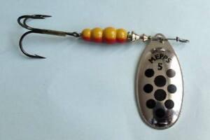 1 x leurre MEPPS cuillere AGLIA POINT NOIR lure spinner trout perch silver dot