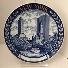 1972 Central Park NEW YORK CITY Denmark by Kesa Collectors PLATE Number 109