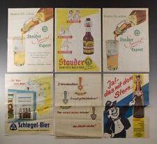 Einwickelpapier 3 x STAUDER + 1 x SCHLEGEL + 2 x STERN BIER um 1955