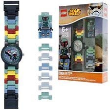 LEGO Guerra de las Galaxias Boba Fett niños Minifigura enlace para armar Reloj | Verde/Gris | Pla