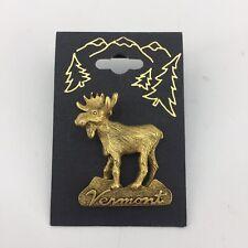 Vintage Mark Elliot Schwabe USA Vermont Moose Pin Tie Tack Estate Jewelry