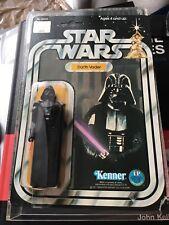 Star wars Rare vintage ANH Darth Vader 12 back. MOC.1977.