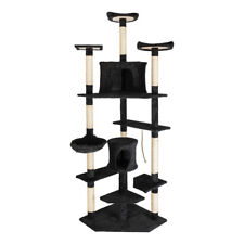 """New listing 80"""" Cat Tree Play House Tower Condo Furniture Scratch Post Basket Cat Climb Tree"""
