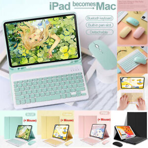 """For iPad Pro 12.9"""" 5th 4th Gen 2021 2020 Bluetooth Keyboard Mouse PU Case Cover"""