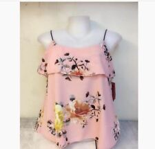 WOMEN'S FLORAL SLEEVELESS BLOUSE NC -  PINK