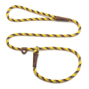 "Mendota - Dog Puppy Leash - British Style Slip Lead - Harvest - 3/8"" 4 foot"