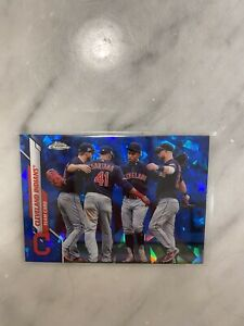 Cleveland Indians 2020 Topps Chrome Sapphire Team Card #65