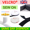 SEW ON VELCRO® Hook & Loop 20mm Sewing/Stitch-On Fabric Tape Strips Black White