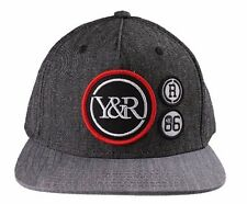 Young and Reckless Gray Patchwork Snapback Hat Y&R Drama Patches