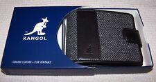 Kangol Harry Tweed Slimfold Wallet GREY TWEED/BLACK ~ NWT $75