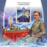 Solomon Islands 2017 MNH Thomas Edison Inventor 1v S/S Inventions Stamps