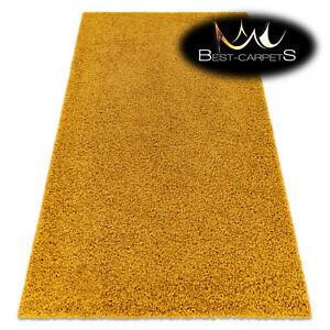 "Amazing Modern Rug shaggy ""SOFFI"" 5cm, soft, single-colour, GOLD High Quality"