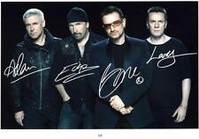 U2 AUTOGRAPHED SIGNED A4 PP POSTER PHOTO