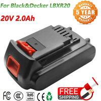 For Black & Decker LBXR20 20V 2.0Ah Li-Ion Battery LB20 LBX20 LCS20 LCS1620 USPS