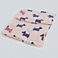 Women's Scarf Scottie Dog Print Robert Burns New Ladies Puppy 50th Birthday Gift