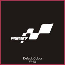 RS197 pare-chocs FLAG DECAL, vinyl, autocollant, graphiques, Renaultsport, Clio, N2050