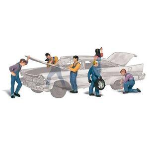 Painted Auto Mechanics (OO/HO figures) Woodland Scenics A1914 F2