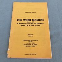 The Word Machine 2.0 Operations Manual TRS-80 Word Processor 1982 Ed Levy PelTek