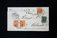 Italy Registered Early Stamped Cover