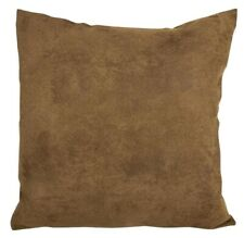 """CUSHION COVERS / FILLED CUSHIONS - BROWN CHINO 18X18"""""""