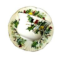 Hammersley Fine Bone China Rare Christmas Demitasse Tea Cup And Saucer Vintage