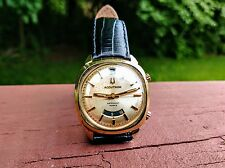 **BULOVA ACCUTRON 14KT GOLD 218 ASTRONAUT MARK II DUAL TIME WATCH**