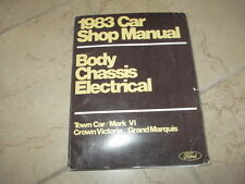 1983 Ford Shop Manual OEM FACTORY TOWN CAR MARK VI CROWN VICTORIA GRAND MARQUIS