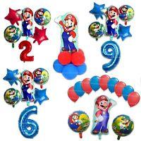 Super Mario Birthday Balloons Gender Reveal Party Luigi Nintendo Video Game Kids