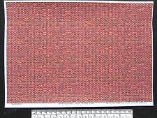 O CALIBRE (1:48 échelle) rouge-brun Brique - Vinyle autocollant - A4