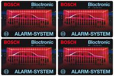 4x Bosch bloctronic voiture alarme autocollant – alarme vitres autocollants