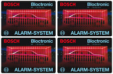 4x Bosch Bloctronic Auto Alarm Aufkleber – Alarmanlage Scheibenaufkleber