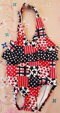 Faded Glory Infant Girls Red, White, and Blue Bathing Suit 12 Months