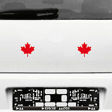 2 Pcs Maple Leaf 8cm Canadian Red Maple Leaves Canada Tattoo Film